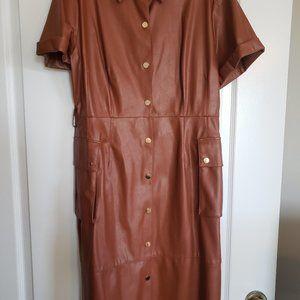 Leather (Faux) Dress